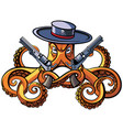 octopus the bandit vector image vector image