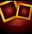 golden luxury frames on red vintage background vector image
