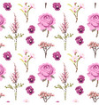 botanical flower seamless pattern flowers vector image vector image