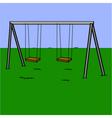 Abandoned swing set vector image vector image