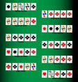 Set poker combinations vector image