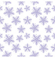 Abstract seamless pattern with snowflakes vector image vector image