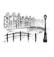 Amsterdam canals and houses vector image