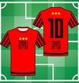 Team Sportswear Uniform vector image