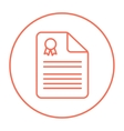 Real estate contract line icon vector image