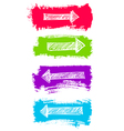 Arrows and Grunge Color Brush Set vector image vector image