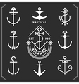 anchors set vector image
