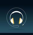 audio headphone icon vector image
