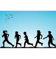 children running outdoor vector image