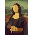 Mona Lisa in Flat Style vector image