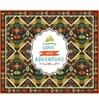 Navajo seamless colorful tribal pattern vector image