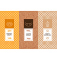 set of design templates and elements vector image