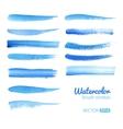 Watercolor Blue Brush Stroke Set vector image