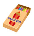 pencils on box vector image