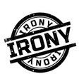 irony rubber stamp vector image