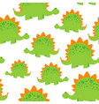 green dinosaur pattern vector image