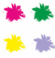 Splash in Red Green Yellow and Violet Color vector image