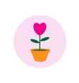 heart pot symbol vector image