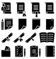 Paper diploma and sheet set vector image
