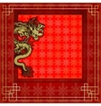 frame red dragon gold-colored sticker 8 vector image
