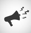 Logo megaphone with arrows vector image