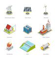 Smart grid elements Power items set vector image vector image