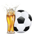 Beer and Soccer Ball vector image