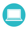 circle light blue with laptop computer vector image