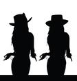 girl black silhouette vector image