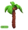 Icon of plasticine palm tree vector image
