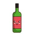 kawaii wine bottle ico vector image