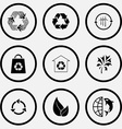 recycle symbol wind turbine bag protection of vector image