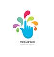 Touch screen finger - logo template concept vector image