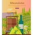 Wine Production Banner Poster for White Vine vector image