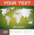 World Map Brochure Layout vector image