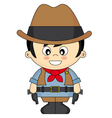 Child dressed as cowboy vector image vector image