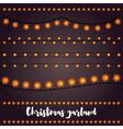 Christmas Garlands Set vector image