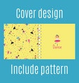 cover design with dancing girls pattern vector image vector image