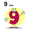 Cartoon numbers vector image vector image