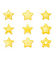 shiny star icons set vector image