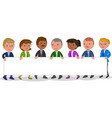 business people holding blank paper vector image