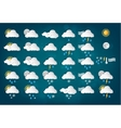 Weather Icons with Blue Background vector image