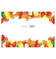Mixed Fruits Frame Border vector image