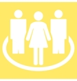 Society icon from Business Bicolor Set vector image