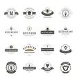 Vintage Restaurant Logos Design Templates Set vector image