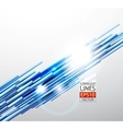 abstract blue lines background vector image vector image