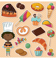 African-American confectioner vector image