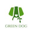 green dog veterinary concept vector image