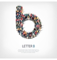group people shape letter B vector image