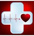 Heartbeat symbol vector image